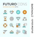 line icons with flat design... | Shutterstock .eps vector #274943498