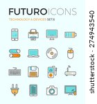 line icons with flat design... | Shutterstock .eps vector #274943540