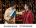 two men greeting each other | Shutterstock . vector #274946468