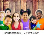 diversity children friendship... | Shutterstock . vector #274953224