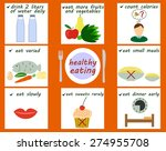 principles of healthy eating | Shutterstock .eps vector #274955708