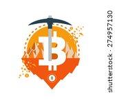 bitcoin vector icons banners... | Shutterstock .eps vector #274957130