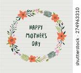 happy mother's day | Shutterstock .eps vector #274963310