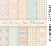 10 pastel retro different... | Shutterstock .eps vector #274970369