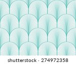 vintage mint and white seamless ... | Shutterstock . vector #274972358