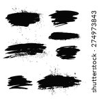 big set of grunge brush strokes.... | Shutterstock . vector #274973843