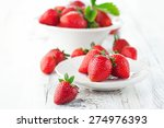 Juicy Fresh Strawberries In A...