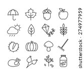 collection of autumn icons  ...