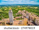 Aerial Wide Angle View Of The...