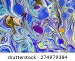 amazing artwork texture ebru  ... | Shutterstock .eps vector #274979384