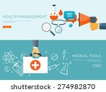 medical flat vector background... | Shutterstock .eps vector #274982870