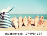 summer vacation  sunbathing and ... | Shutterstock . vector #274984139