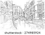 venice   fondamenta rio marin.... | Shutterstock . vector #274985924
