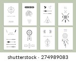 ethnic cards. arrows  indian... | Shutterstock .eps vector #274989083
