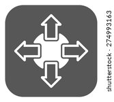 the navigation icon. arrows...