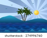 vector illustration. palm tree  ... | Shutterstock .eps vector #274996760
