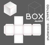 white box model  cube template | Shutterstock .eps vector #274997450