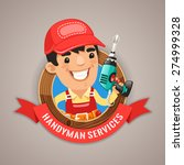 handyman services emblem for... | Shutterstock .eps vector #274999328
