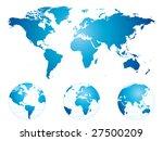 hand drawn detailed world map... | Shutterstock . vector #27500209