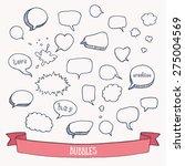 comic speech doodles. hand... | Shutterstock .eps vector #275004569