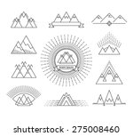 set of linear mountain design... | Shutterstock .eps vector #275008460