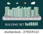 building set green tone concept ... | Shutterstock .eps vector #275019113