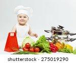 Little Chef Boy Preparing...