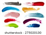 blots of nail polish isolated... | Shutterstock . vector #275020130