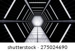 space station hallway tunnel   Shutterstock . vector #275024690
