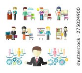 set of peoples professions... | Shutterstock . vector #275024900