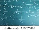 maths formulas on chalkboard... | Shutterstock . vector #275026883