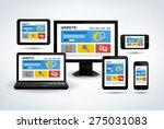 collection of realistic modern...   Shutterstock .eps vector #275031083