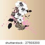 illustration of a floral... | Shutterstock .eps vector #27503203