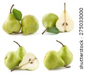 pears and half isolated on... | Shutterstock . vector #275033000