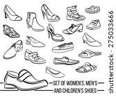 set vector women  men and... | Shutterstock .eps vector #275033666
