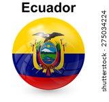 ecuador official flag  button... | Shutterstock .eps vector #275034224