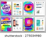set of vector poster templates... | Shutterstock .eps vector #275034980