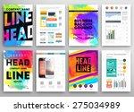 set of vector poster templates... | Shutterstock .eps vector #275034989