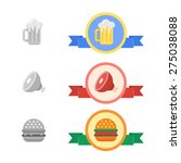 badges of cold beer  roasted... | Shutterstock .eps vector #275038088