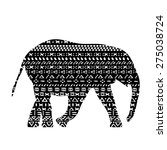 elephant vector with pattern... | Shutterstock .eps vector #275038724