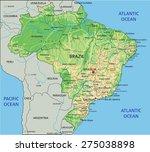 Brazil Map Free Vector Art Free Downloads - Brazil physical map