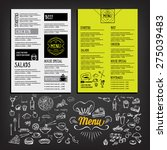 restaurant cafe menu  template... | Shutterstock .eps vector #275039483