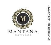 restaurant logo. vintage style... | Shutterstock .eps vector #275039954