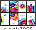 set of cards for marriage ... | Shutterstock .eps vector #275040533