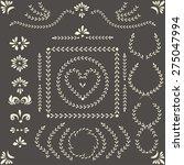 set of vector decorative... | Shutterstock .eps vector #275047994