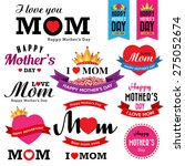 happy mother's day vintage type ... | Shutterstock .eps vector #275052674