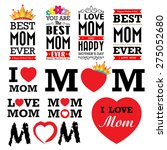 happy mother's day vintage type ... | Shutterstock .eps vector #275052680