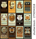 set contains images of beer... | Shutterstock .eps vector #275054318