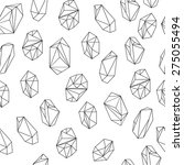 black and white crystals... | Shutterstock .eps vector #275055494
