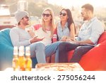 spending great time together.... | Shutterstock . vector #275056244